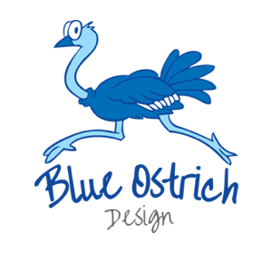 Blue Ostrich Design